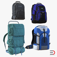 3d backpacks 4 model