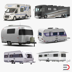 motorhomes caravans 3d max