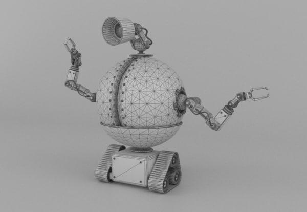 3d model drone robot