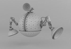 3d drone - robot 2