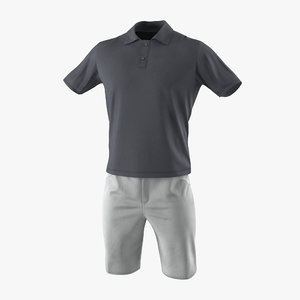 c4d mens casual clothes 4