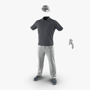 3d mens golf clothes