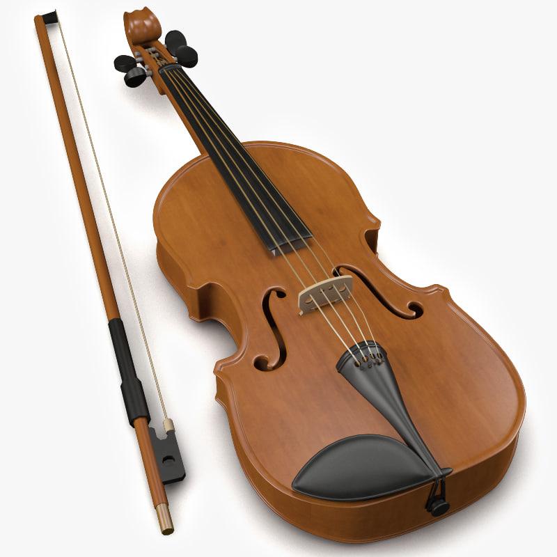 3d model of violin bow