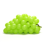3d green grapes model