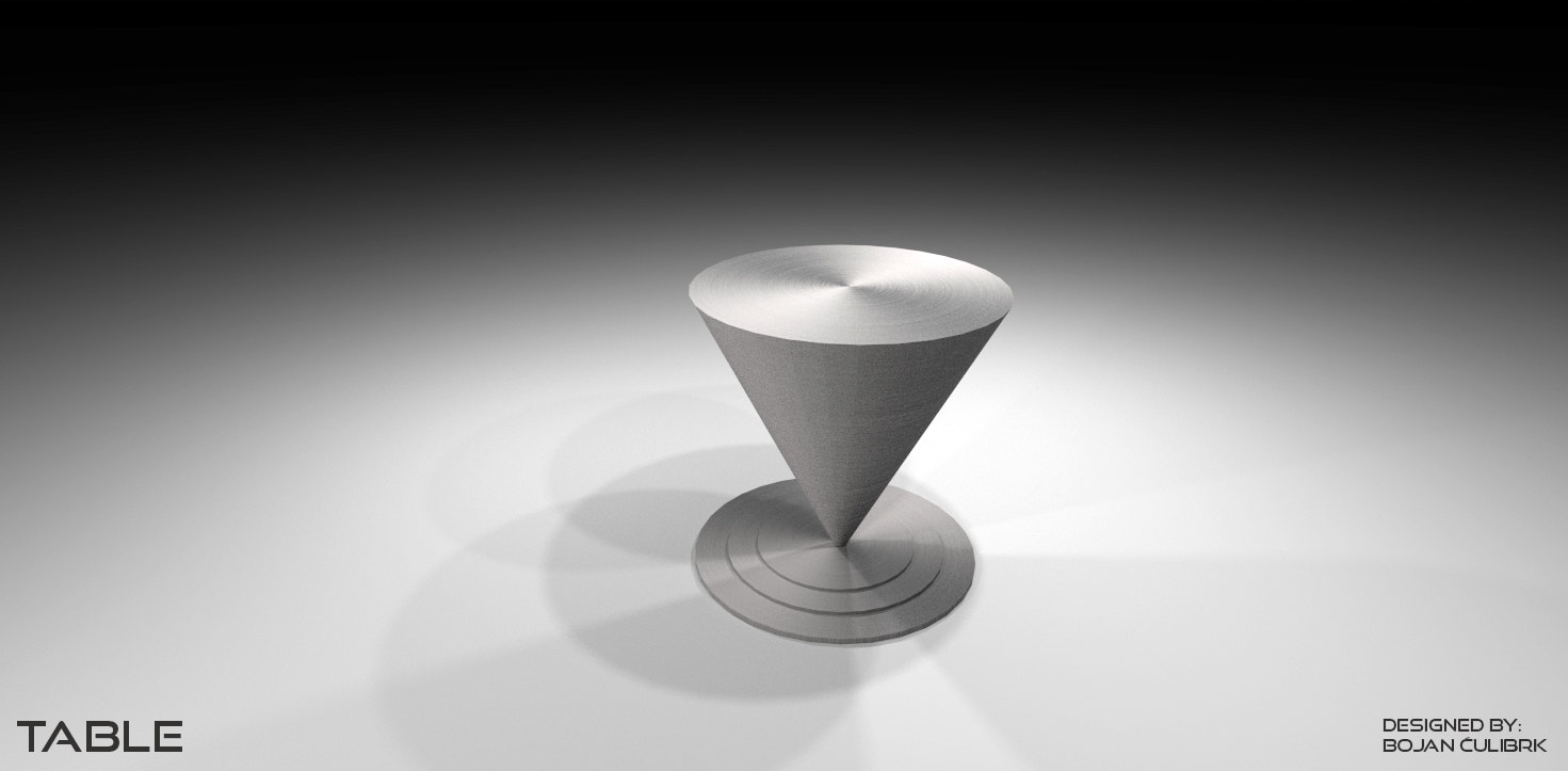3d model cone table