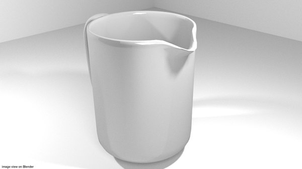 3d model dishware jug dish