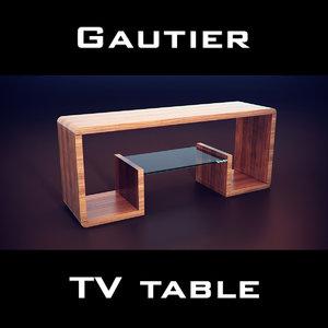 gautier cocktails bookcase 3ds