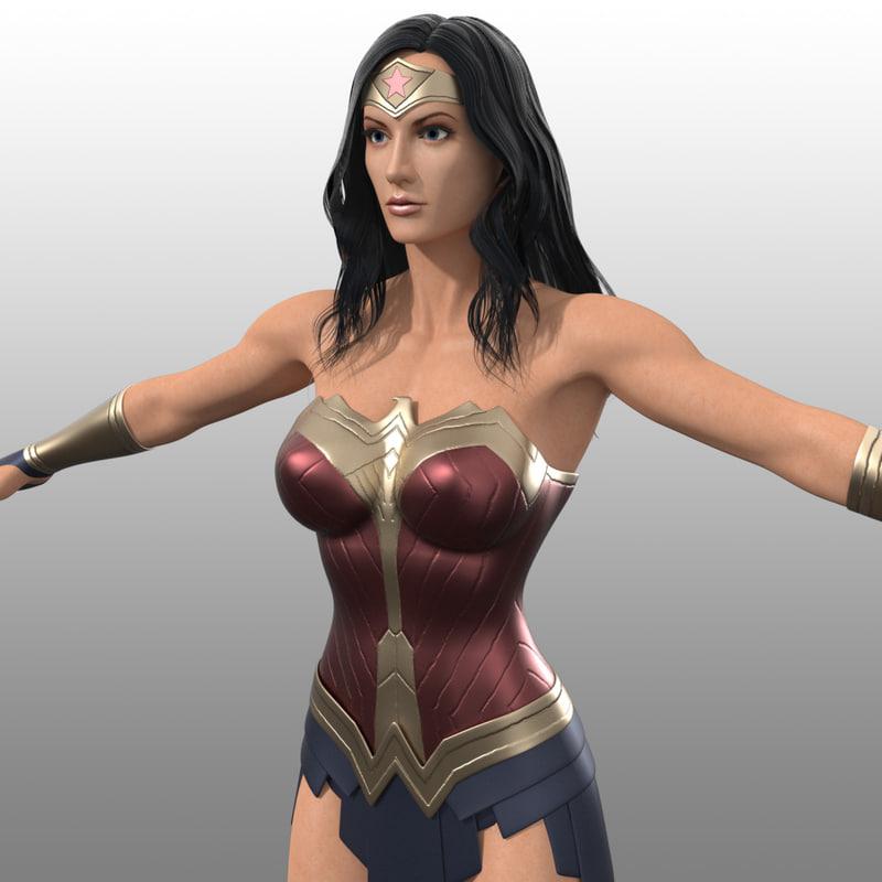 3d wonder woman costume inspired