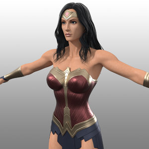 3d wonder woman costume inspired
