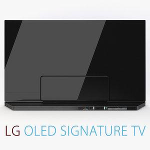 lg signature 4k tv 3d max
