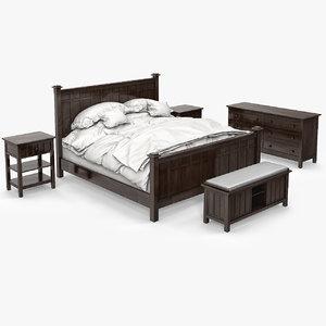 brighton bed 3d max