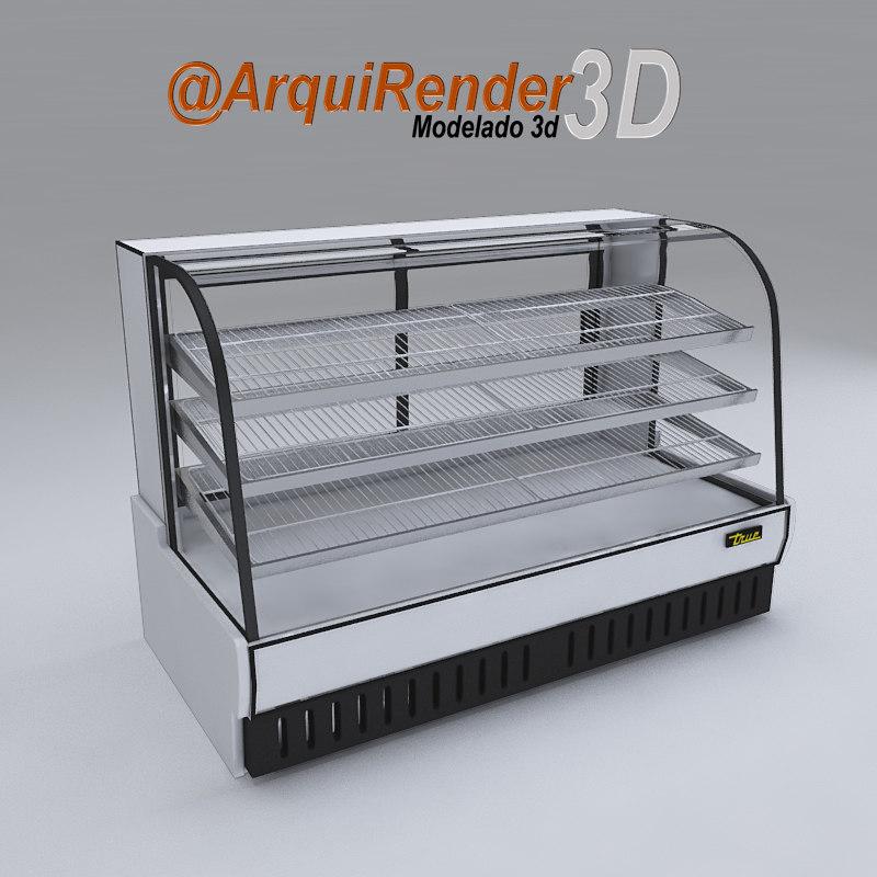 3d bakery case model