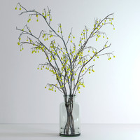 3d jar crabapple flowers
