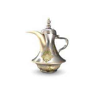3d arabic coffee pot dallah