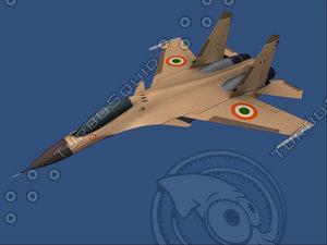 su-30 mki fighter plane 3d model