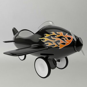 3d model plane cycle