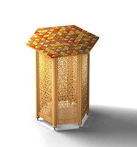 3d oriental table model
