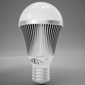 3d model led light bulb
