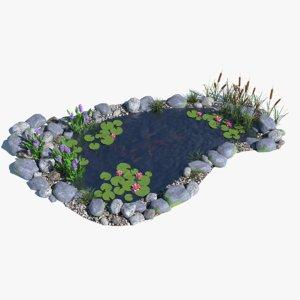 water garden 3d model
