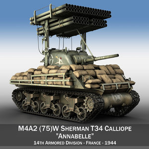 3d model of m4a3 calliope annabell m4