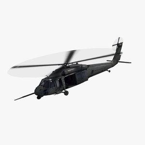 uh60 blackhawk helicopter 3d 3ds