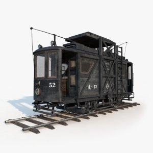 3d model city tram repair
