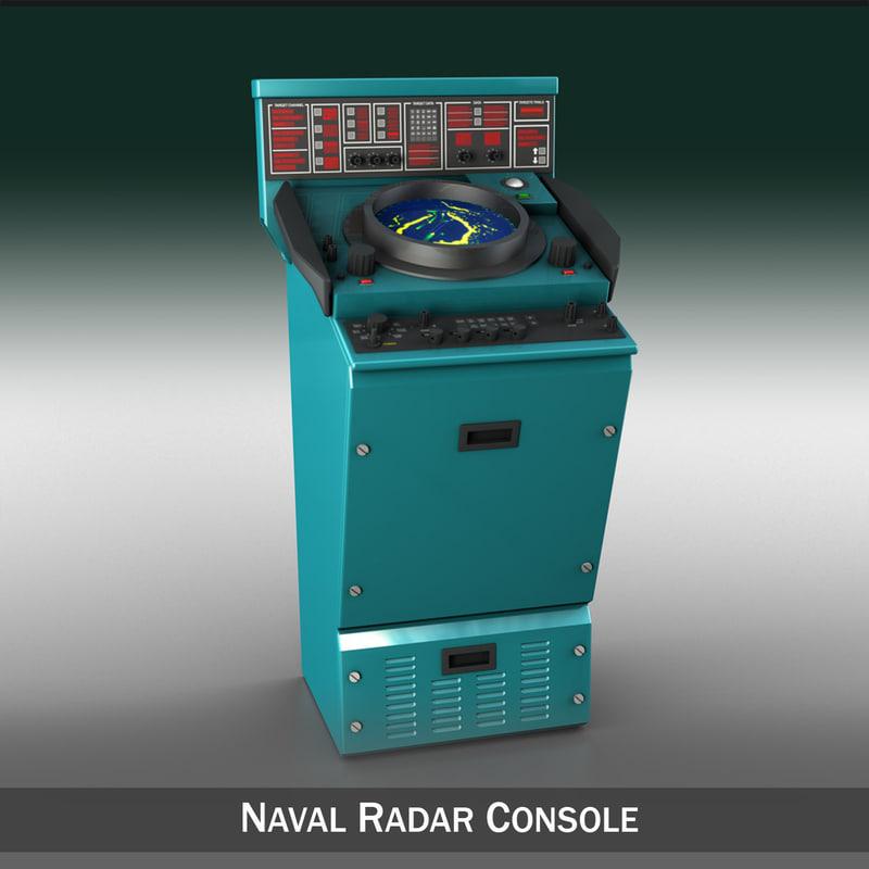 naval radar 3d model