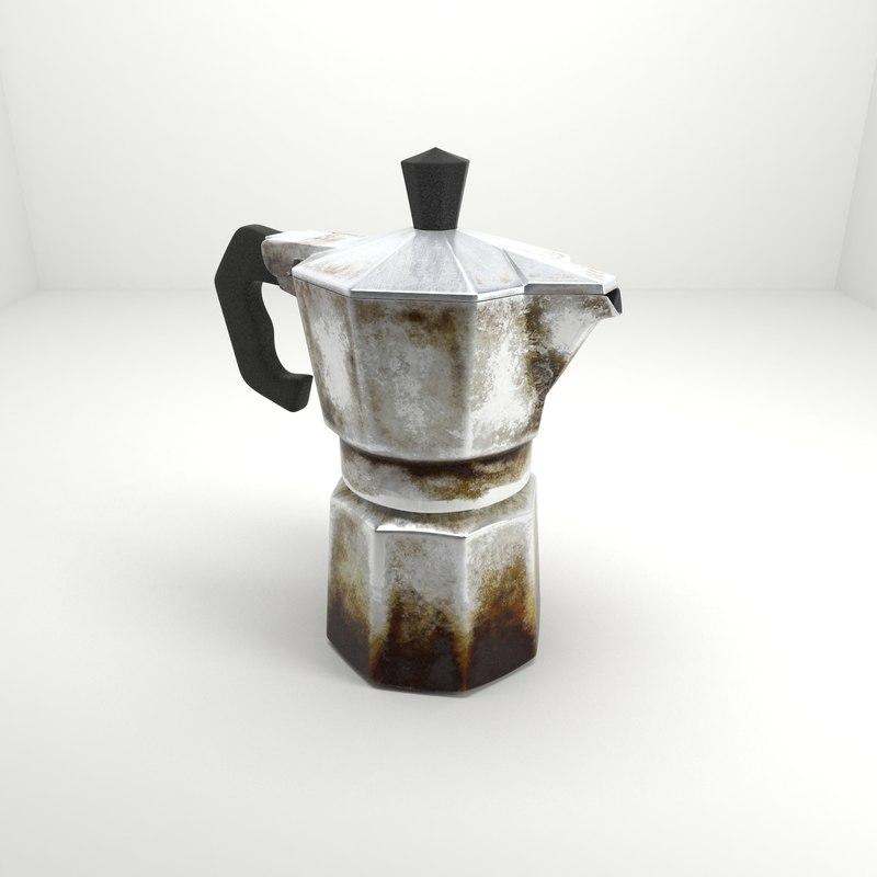 3d model old vintage coffee maker