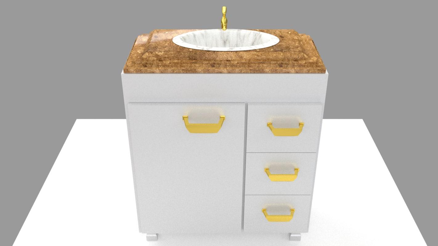3d model bath bathroom room