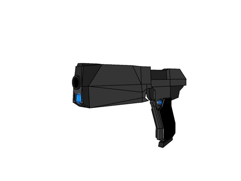 weapon futuristic 3d c4d