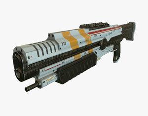 shotgun sci fi 3d model