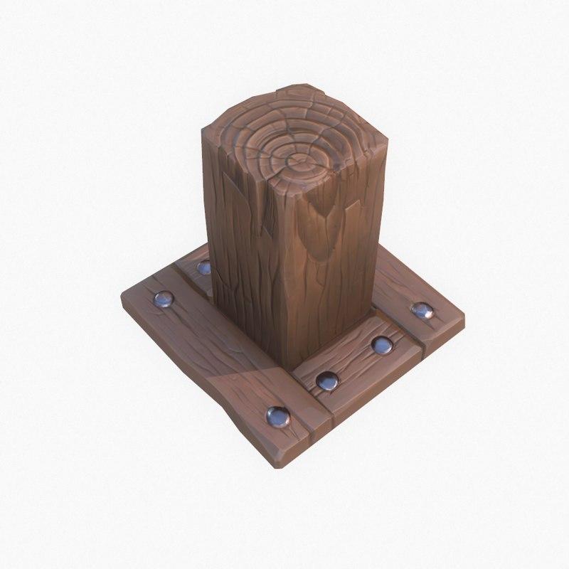 wooden element obj