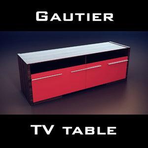 gautier extreme tv unit 3d max