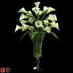 calla lily 3d max