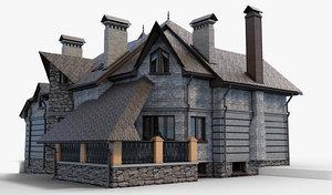 obj house gothic