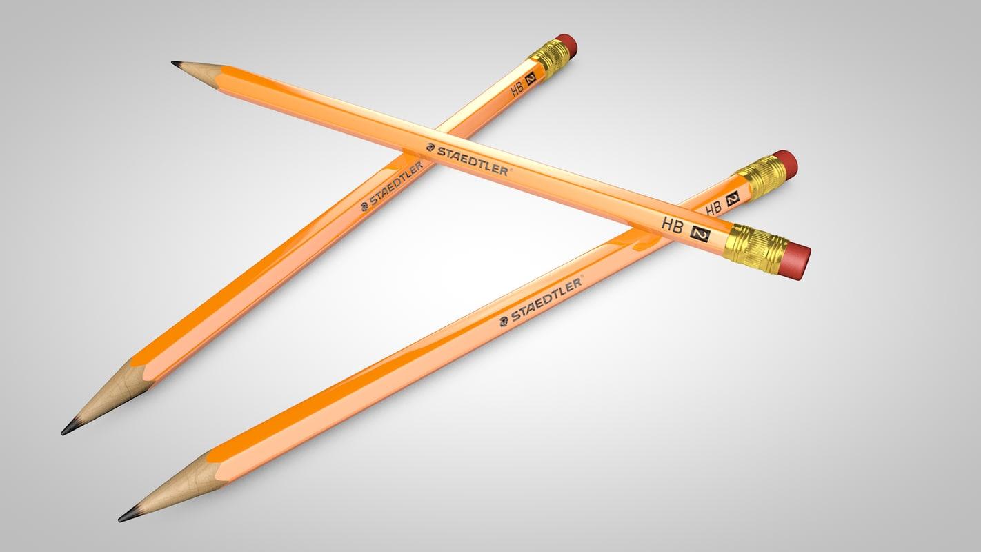 3d pencil hb