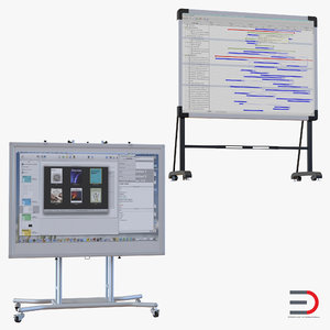 interactive whiteboards 3d 3ds