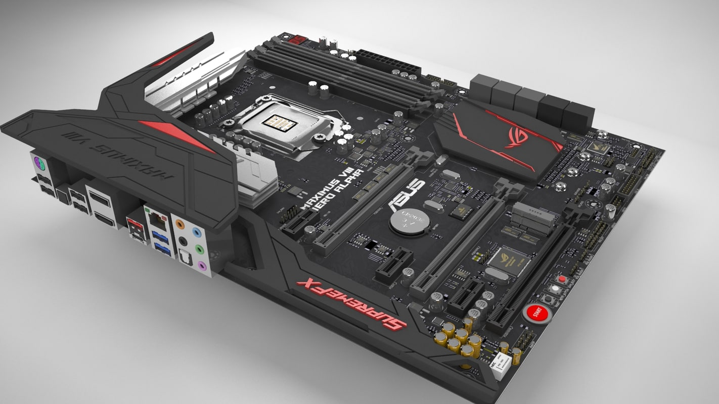 3d motherboard asus maximus hero