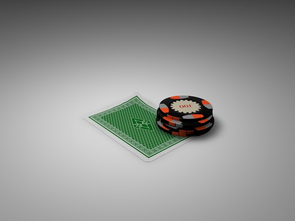 poker chips card 3d model