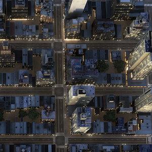 3d new york manhattan district model