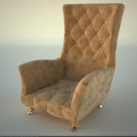 3d model chair plush