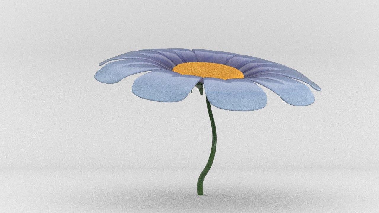 growing flower 3d model