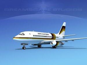 3d model of boeing 737 737-100