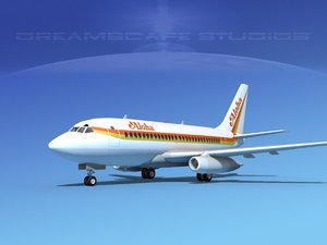 boeing 737 737-100 3d model