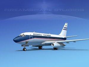 boeing 737 737-100 3d 3ds