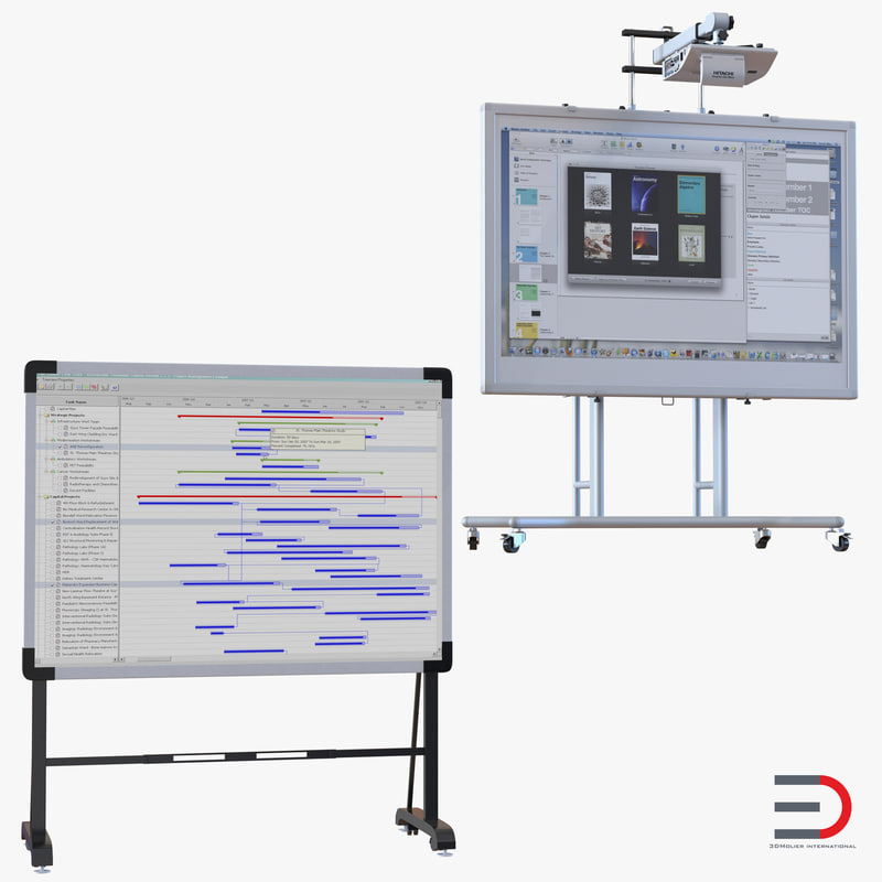 interactive whiteboards 3 3d max