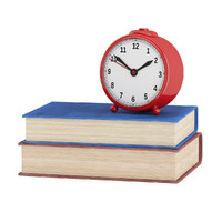Clock and Two Books