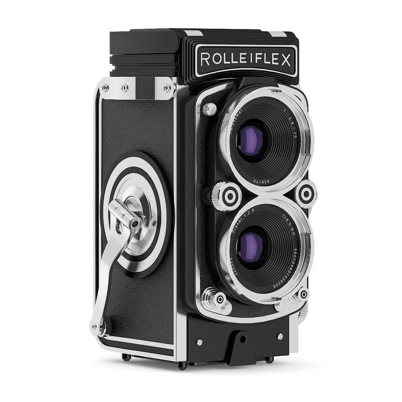 3d antique camera