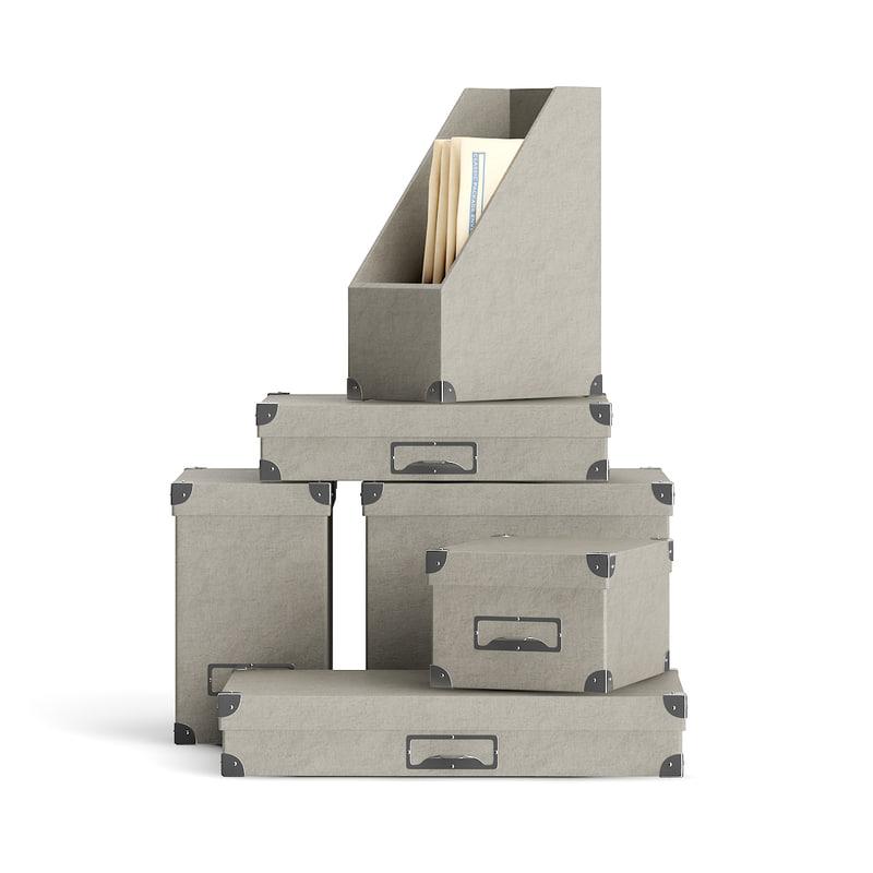 3d grey boxes model
