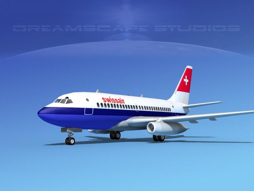 3d model boeing 737 737-100